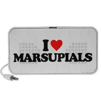I LOVE MARSUPIALS iPod SPEAKERS