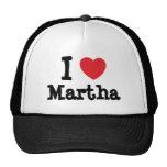 I love Martha heart T-Shirt Trucker Hat