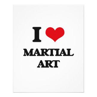 I Love Martial Art Flyers