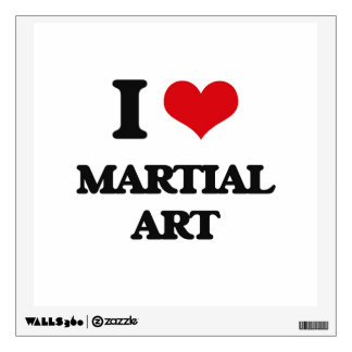 I Love Martial Art Wall Graphic