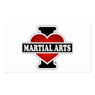 I Love Martial Arts Business Card