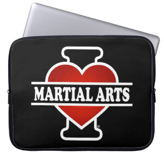 I Love Martial Arts Computer Sleeve