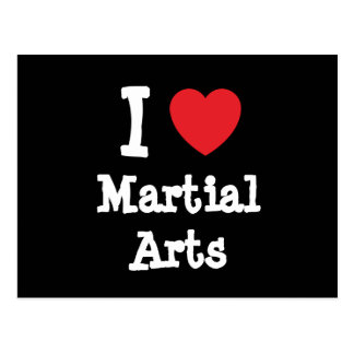 I love Martial Arts heart custom personalized Postcard