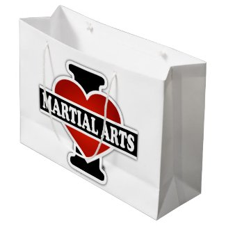 I Love Martial Arts Large Gift Bag