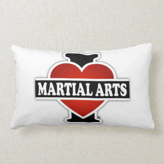I Love Martial Arts Lumbar Pillow