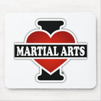 I Love Martial Arts Mouse Pad