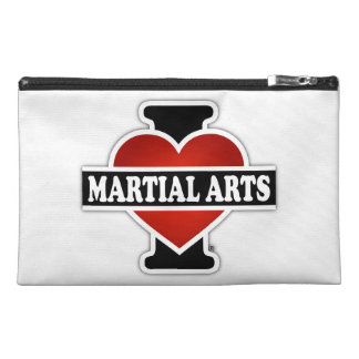 I Love Martial Arts Travel Accessory Bags