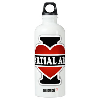 I Love Martial Arts Water Bottle