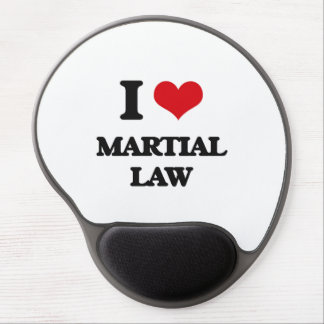 I Love Martial Law Gel Mousepads