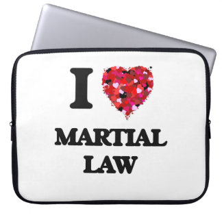 I Love Martial Law Laptop Sleeve