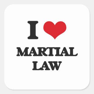 I Love Martial Law Square Sticker