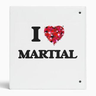 I Love Martial Vinyl Binders