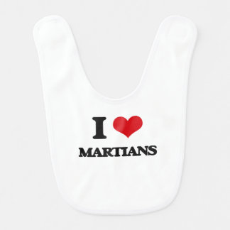 I Love Martians Bib