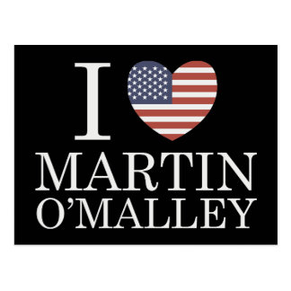 I Love Martin O'Malley Postcard