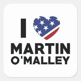 I Love Martin O'Malley Square Sticker