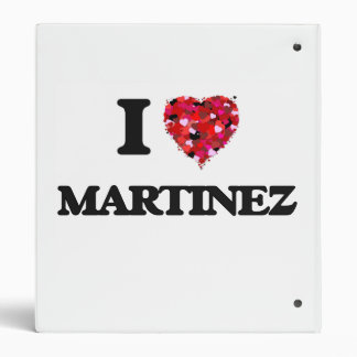 I Love Martinez Binders