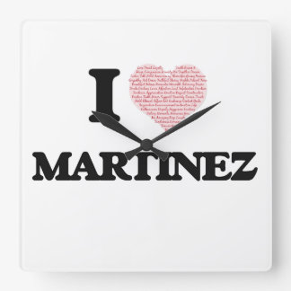 I Love Martinez Square Wallclock