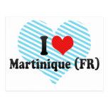 I Love Martinique (FR) Postcard