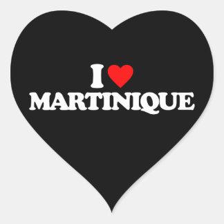 I LOVE MARTINIQUE HEART STICKER