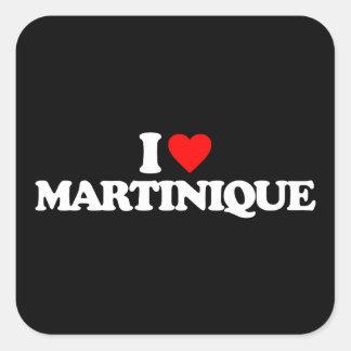 I LOVE MARTINIQUE SQUARE STICKER