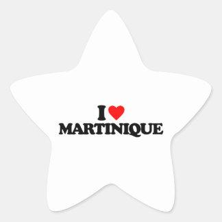 I LOVE MARTINIQUE STAR STICKER