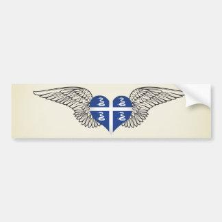 I Love Martinique -wings Car Bumper Sticker