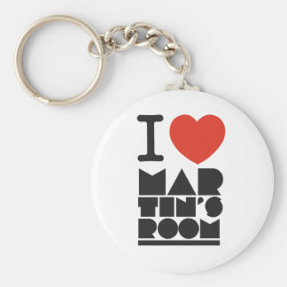 I Love Martins Room Keychain