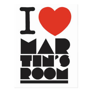 I Love Martins Room Postcard