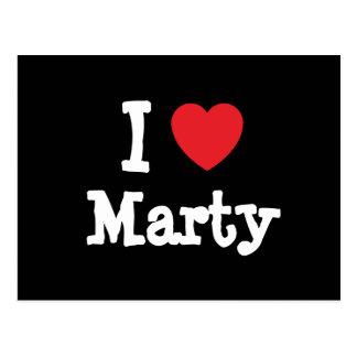 I love Marty heart T-Shirt Postcard