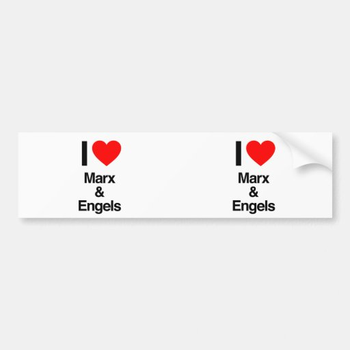 i love marx and engels bumper sticker