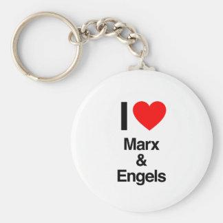 i love marx and engels key chains
