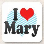 I love Mary Beverage Coasters