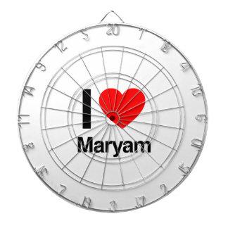i love maryam dartboard with darts