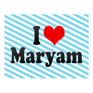I love Maryam Postcard