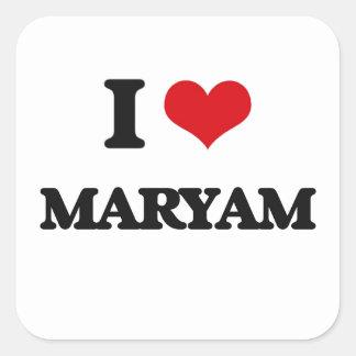 I Love Maryam Square Sticker