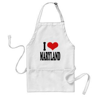 I Love Maryland Adult Apron