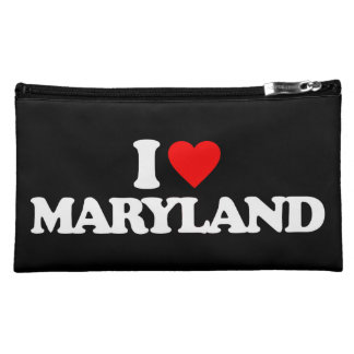 I LOVE MARYLAND COSMETICS BAGS
