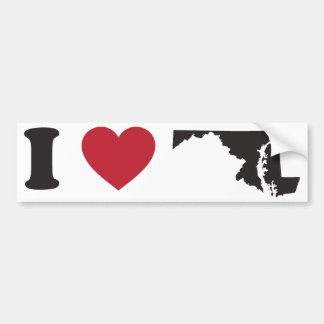 I Love Maryland Bumper Sticker