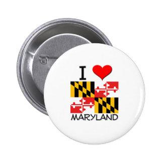 I Love Maryland Pinback Button