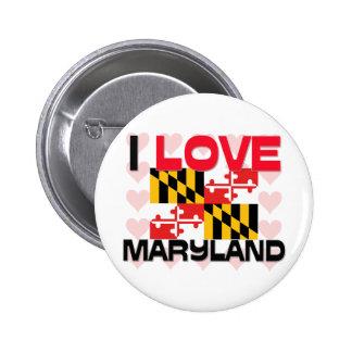 I Love Maryland Pins