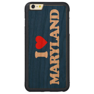 I LOVE MARYLAND CARVED CHERRY iPhone 6 PLUS BUMPER CASE