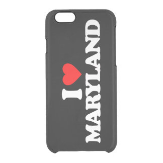 I LOVE MARYLAND CLEAR iPhone 6/6S CASE