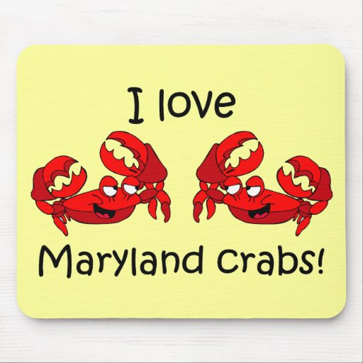 I love maryland crabs! mouse pad