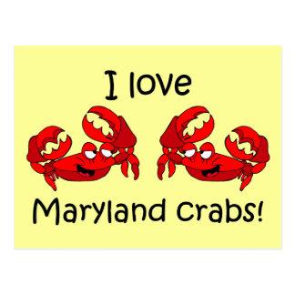 I love maryland crabs! postcard