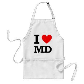I Love Maryland Design Adult Apron