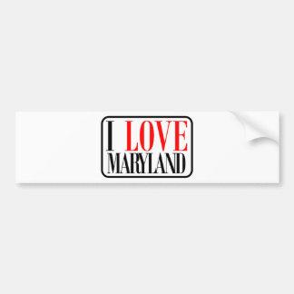 I Love Maryland Design Bumper Sticker