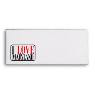 I Love Maryland Design Envelopes