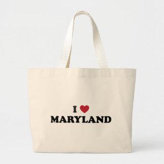 I Love Maryland Large Tote Bag