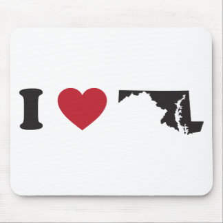 I Love Maryland Mouse Pad