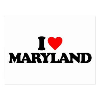 I LOVE MARYLAND POSTCARD